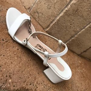 Salvatore Ferragamo white Open Toe Sandals